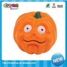 Customized funny shape pumpkin stress ball with printing logo