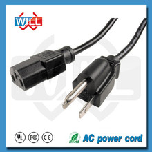 American standard 220v AC computer power cord with UL