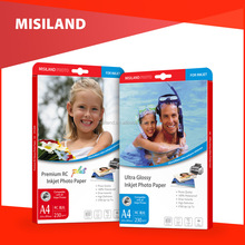 MISILAND Factory hot sales waterproof high Glossy Cast Coated Inkjet Photo Paper 115g 135g 160g 180g 200g 230g 260g
