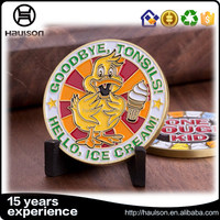 OEM/ODM offered national engraved customized design iron material souvenir matte gold plated challenge coin