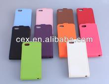 For iPhone 5 5s Wholesales Premium Genuine PU Leather Dual Flip Case with FREE Screen Protector