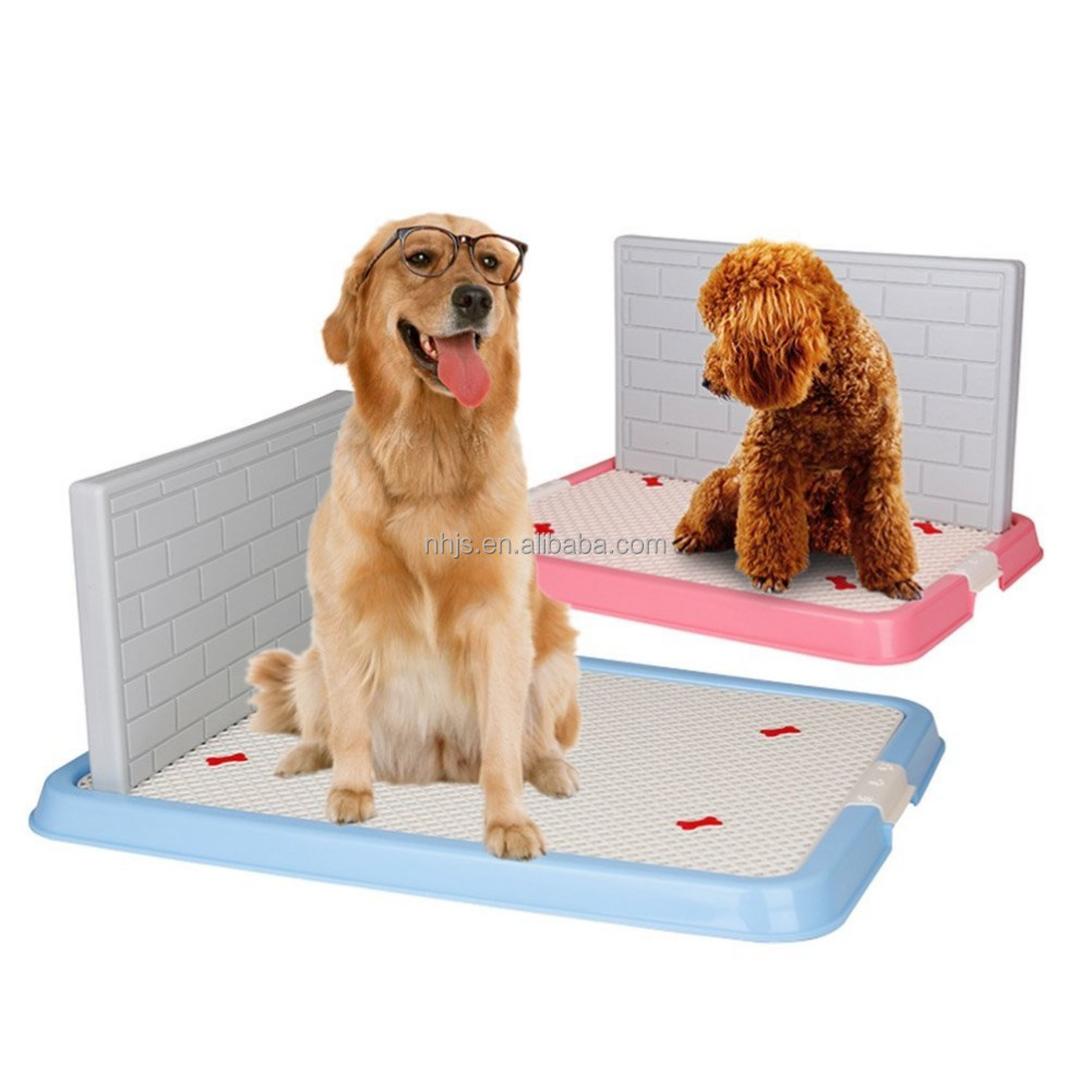 Hot sale plastic dog toilet for male dog /with wall/ training pet toilet