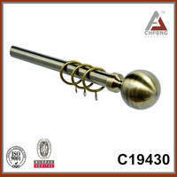 C19430 standard round ball-shaped aluminium curtain rod finials, new curtain rod accessories, double single curtain poles