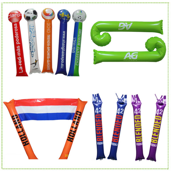 Custom inflatable cheer air bang sticks