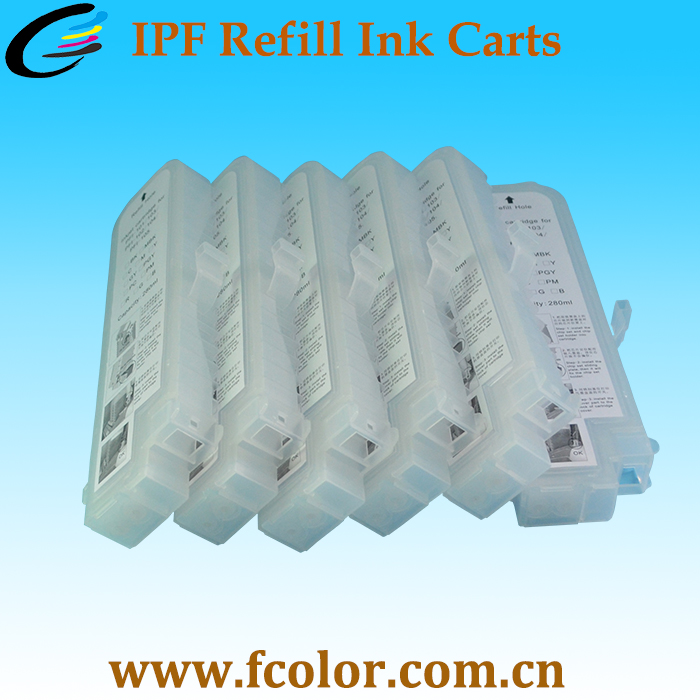 Hot Selling PFI 107 Refillable Ink Cartridge For Canon IPF670 ipf785