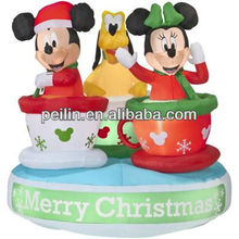 Funny inflatable christmas decoration Mickey with dog