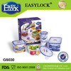 Easylock 3pcs Plastic lunch box set with Cooler Bag keep food warm