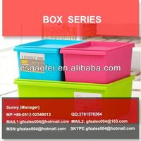 plastic storage box with sliding cover