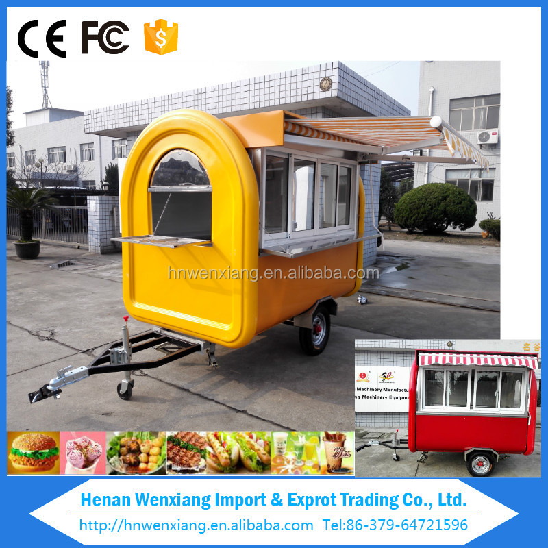 Multi functional fast food trailer, mobile food car,food truck for sale