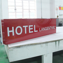 Wholesale high quality hotel sign board with custom made