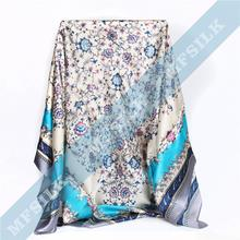 custom digital print 100 pure uniform silk scarf High quality design