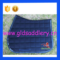Comfortable Gong silk brocade fabric saddle pad for horse