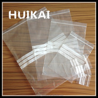 Wholesale China custom waterproof clear 100%PE plastic zipper bags for hair extensions