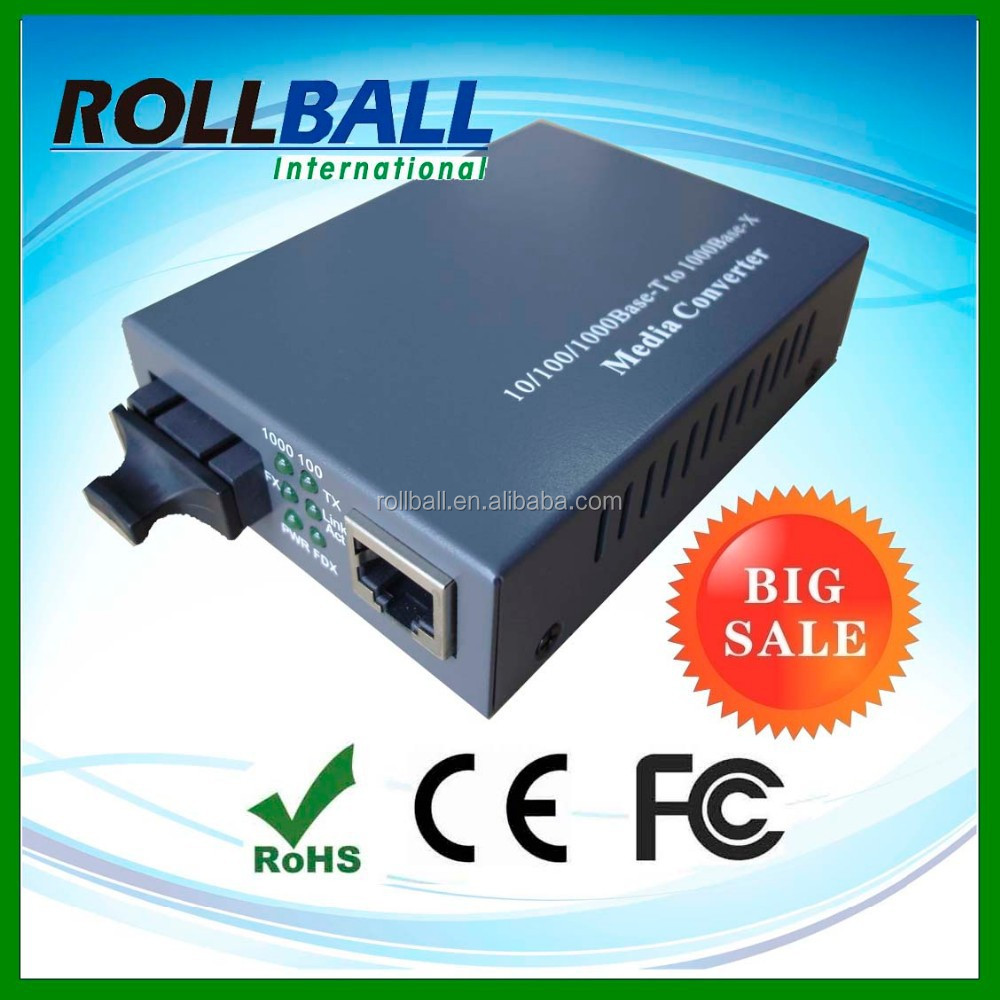 Auto negotiation factory price planet fiber media converter
