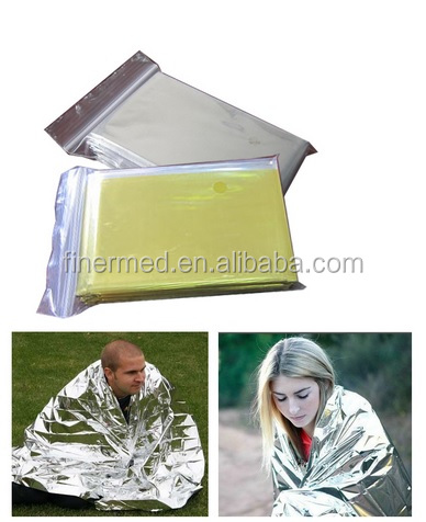 Disposable emergency survival blanket