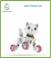 2015 Made in China Lovely Electric Battery Cat Animal Toys Children Battery Intelligent Toys With Voice Control