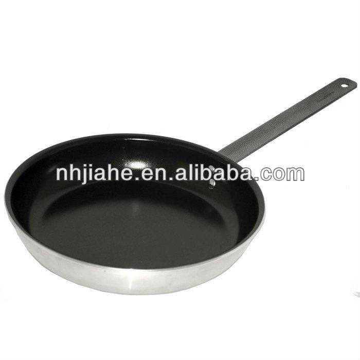 Professional Aluminum nonstick Frying Pan cookware with silicon handle Sanded Exterior kitchen cooking