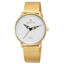 women hand watch 18k gold watch Classic style IP plating mesh steel band woven band watch