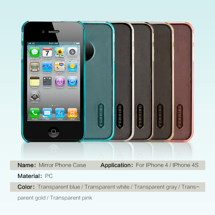 Hot selling Clear Transparent Scrub PC Material Back Cover Mobile Cell Phone Case For iPhone 4
