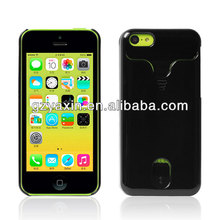 PC+Silicon Hybrid Mobile Phone Case for iPhone 5C with credit card slot,waterproof cases for iphone 5c