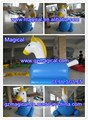 Customise Blue Inflatable Pony Horse / Pony Inflatable Horse Racing