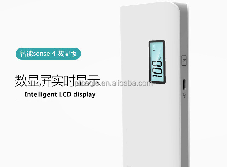 2016 September New Popular Stylish fashionable Lcd Display 10400mah Slim Powerbank From China Factory