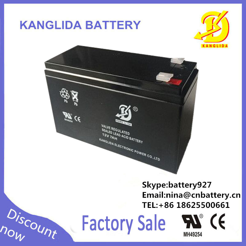 12v maintenance free storage battery,7ah rechargeable flashing light battery