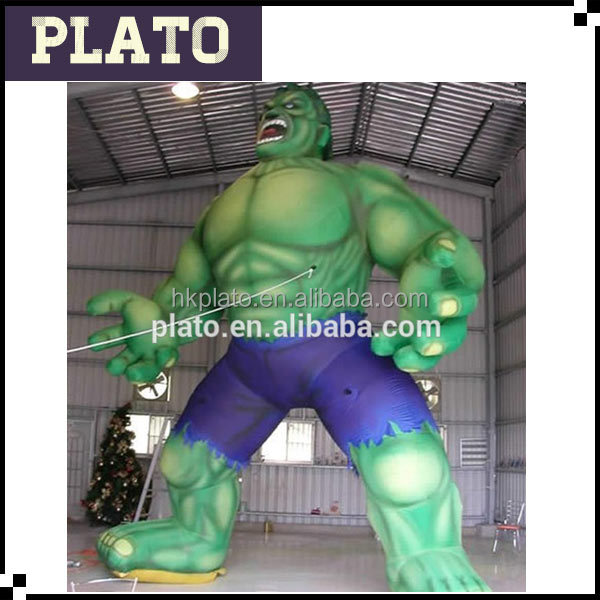 Custom inflatable giant model inflatable giant Hulk large inflatable green man