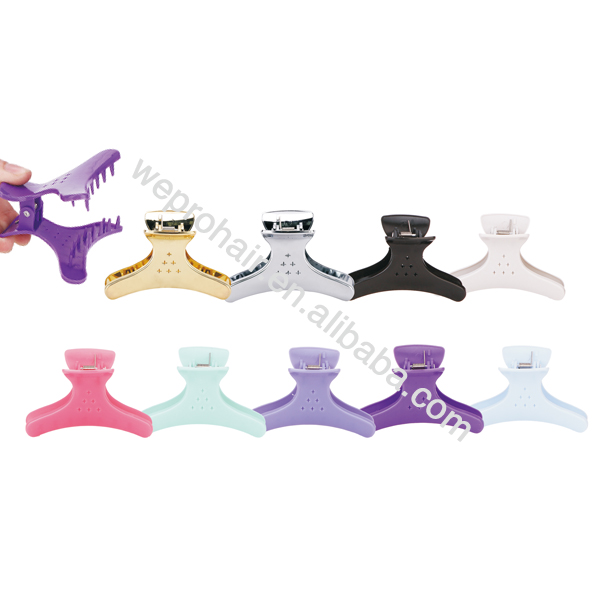 wholesale salon beauty hair clips plastic butterfly clamps