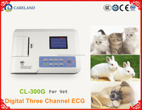 Veterinary ECG EKG Digital 3 Channel Portable Electrocardiograph machine for Vet,animals hospital