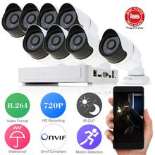 HD 8CH CCTV System 1080P DVR NVR 8PCS 720P IR IP Camera Outdoor Video Surveillance Security Camera System 8 channel DVR Kit