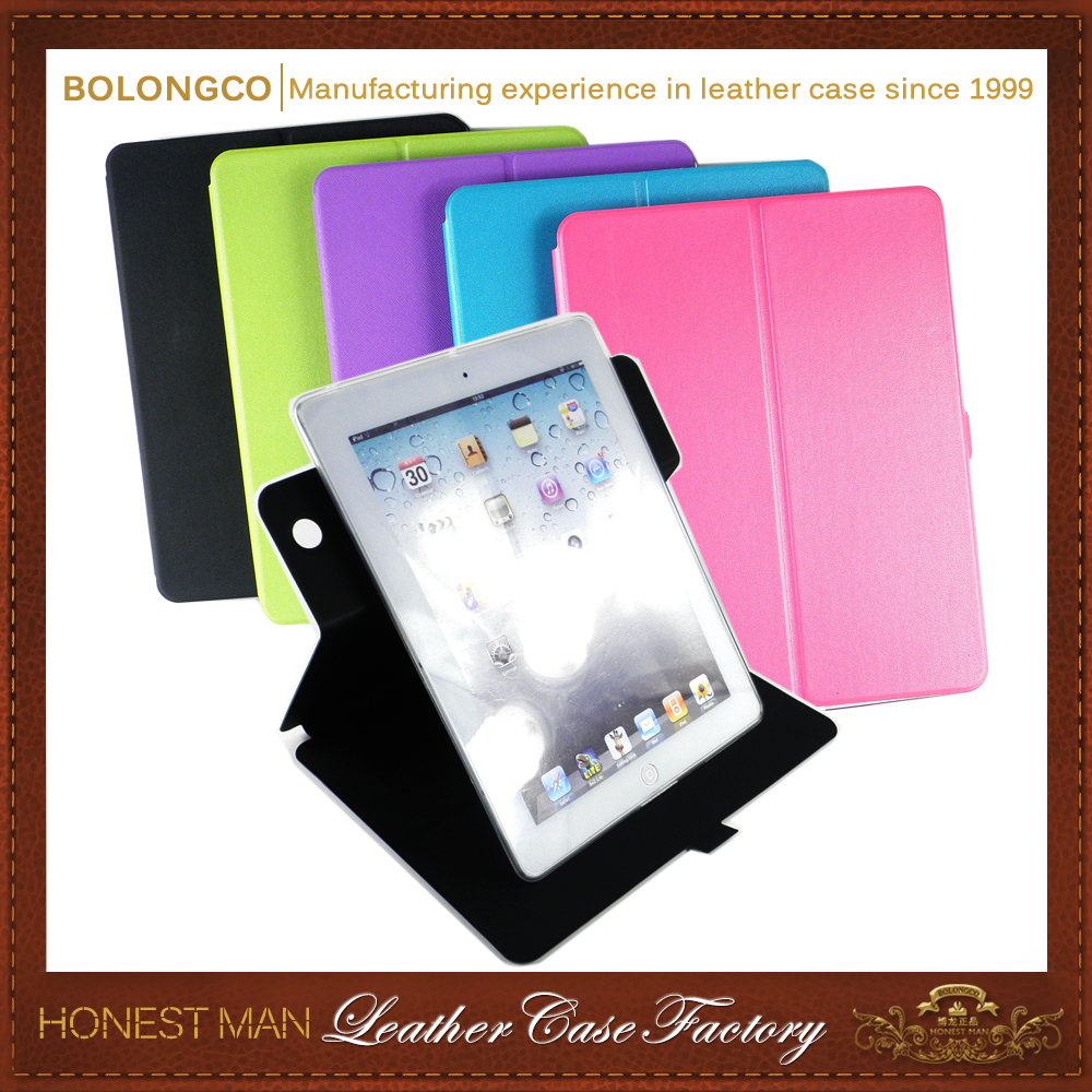 Top quality stand rotate Unbreakable protective case for ipad 4 case in stock wholesale