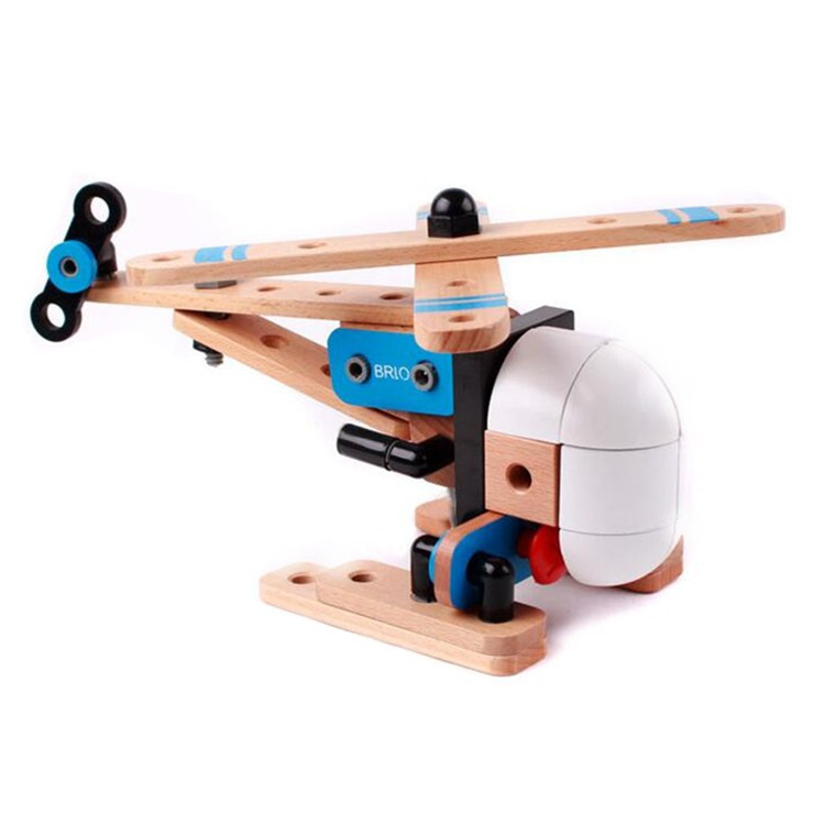 wood DIY assembly helicopter toy wooden educational toys for <strong>kids</strong>