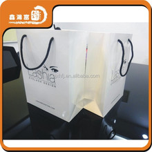 Customized printed logo 2015 shopping paper bag with handle