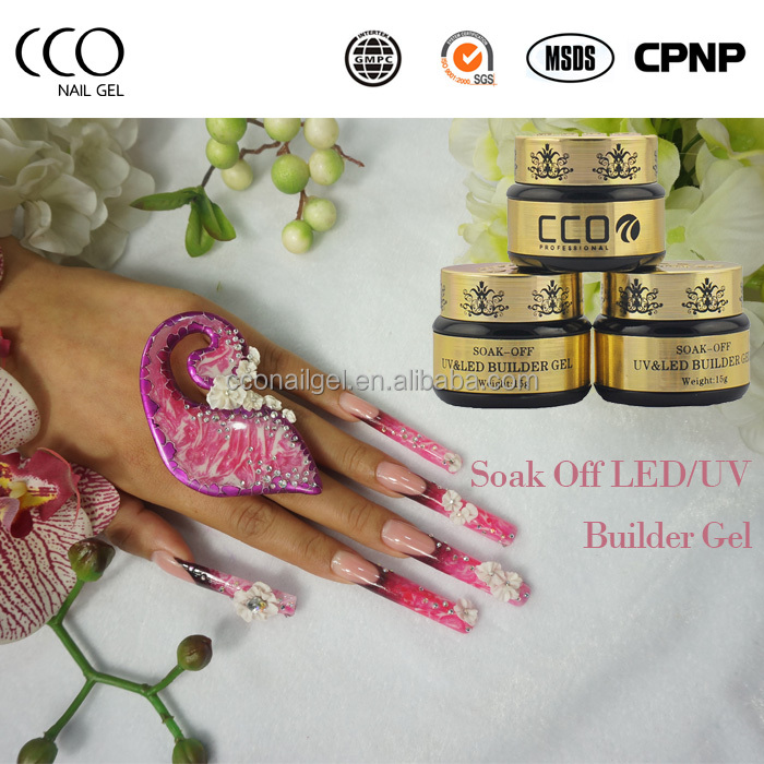 Hot sale High quality organic pearl pink color nail oil extend nail gel