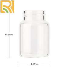 Custom Fancy Design New clear Glass bottle small Glass jar that can be used for wishing honey glass bottle of all sizes