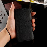 high quality litchi leather PU wallet filp card holder stand case for LG spirit H420