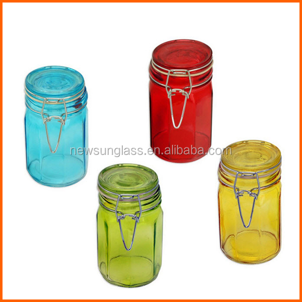 Hot sales decorative glass jars and lids