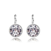 Bella clear crystal pierced earrings Made with original SWAROVSKI ELEMENTS Austrian crystal 2015 Mother's Day gift for women