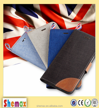 New Luxury Wallet Denim Flip Leather Customized Protective Phone Cover For HTC Desire 326g