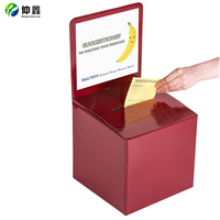 Cardboard Donation Box,Voting Box, Collapsible Corrugated Ballot Box For Election