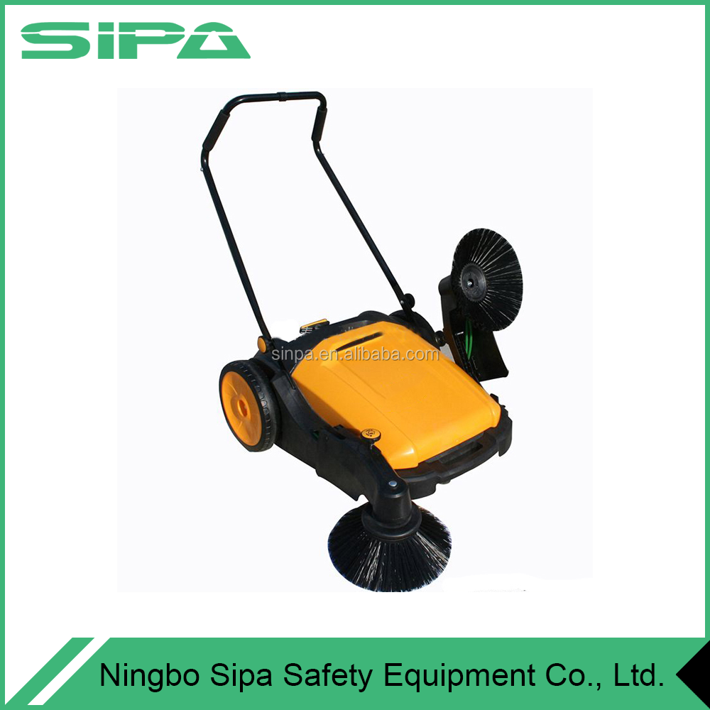 cleaning tool trolley manual road sweepping machine / street sweeper