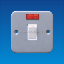British standard metal clad 45A DP switch with neon