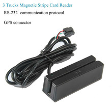 Fast Deliver RS 232 communication protocol GPS conector AAMVA 90mm magnetic card reader for vehicle Thailand Market