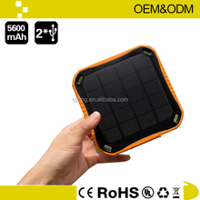 Hot Sale Waterproof Solar Charger 2.5W Solar Panel Dual USB Port
