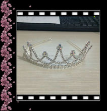 wholesale hair accessories girls tiaras and crowns clear with ab kids princess tiara