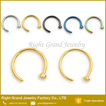 Assorted Nose Studs Rings 316L Surgical Steel Nose Hoop Ring