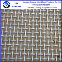 Square 6mm opening grizzly wire screen barbecue crimped wire mesh