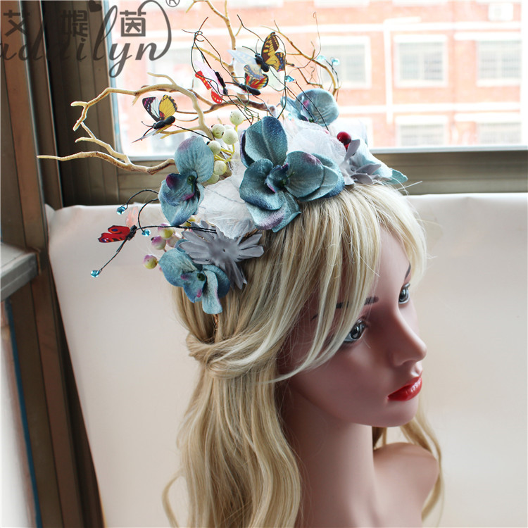Factory Wholesale Addilyn butterfly decoration pageant crowns tiara