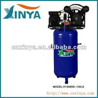 XINYA 100L 8bar 3hp 115psi two cylinder D-type ac portable piston type belt-driven air ac compressor price(XY2065D-100LS);